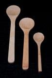 Cucharas de madera Imagenes de archivo