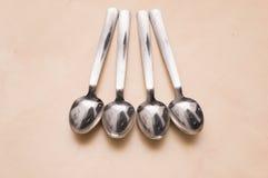 Cucharas de plata Fotografía de archivo libre de regalías