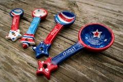 Cucharas dosificadoras americana Foto de archivo