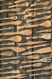 Cucharas, forkes, cuchillos Imagen de archivo libre de regalías