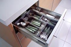 Cucharas y forkes Foto de archivo