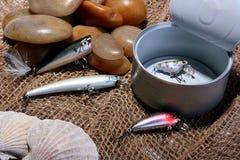 Cucharea la pesca de gancho de leva foto de archivo libre de regalías