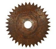 Cuchilla aherrumbrada vieja del metal foto de archivo