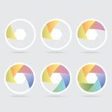 Cuchilla colorida del obturador Foto de archivo libre de regalías