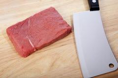 Cuchilla de carne Imagen de archivo libre de regalías