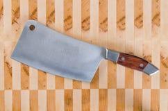 Cuchilla de carne Foto de archivo libre de regalías