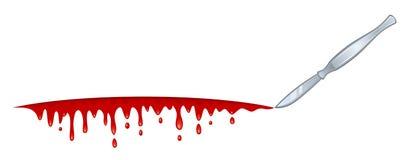 Cuchilla de la sangre Imágenes de archivo libres de regalías