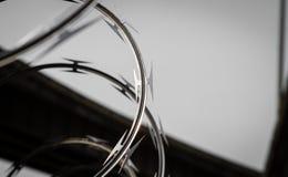 Cuchilla del alambre de la maquinilla de afeitar Fotografía de archivo