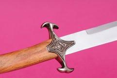Cuchilla del pomo de espada del puño de la espada Imágenes de archivo libres de regalías