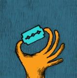 Cuchilla del witz de la mano Foto de archivo libre de regalías