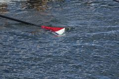 Cuchilla en el agua Foto de archivo libre de regalías