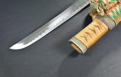 Cuchilla y funda de la espada de Katana Japanese Fotos de archivo libres de regalías