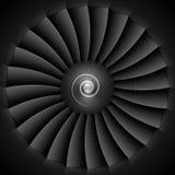 Cuchillas de turbina del motor a reacción Imagen de archivo libre de regalías