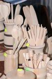 Cuchillería de madera Foto de archivo libre de regalías