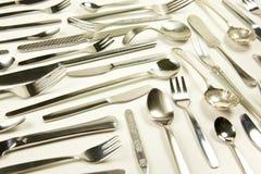 Cuchillería, fork del cuchillo y cuchara Imágenes de archivo libres de regalías