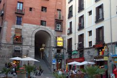 Cuchilleros-Bogen - Madrid Stockfotografie