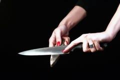 Cuchillo foto de archivo libre de regalías
