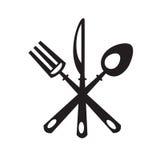 Cuchillo, bifurcación y cuchara Fotografía de archivo