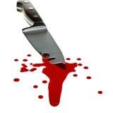 Cuchillo con sangre Fotografía de archivo libre de regalías