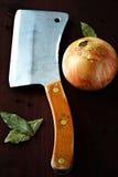 Cuchillo de carnicero Imágenes de archivo libres de regalías