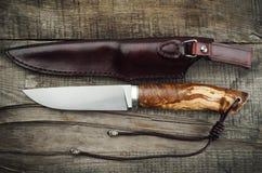 Cuchillo de caza foto de archivo