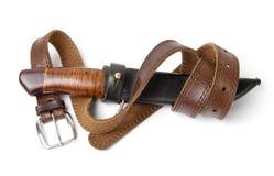 Cuchillo de caza viejo con la correa Fotos de archivo