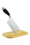 Cuchillo de cocina en bloque del corte. Fotos de archivo