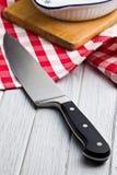 Cuchillo de cocina viejo fotografía de archivo