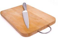Cuchillo de cocina y bardo. fotografía de archivo