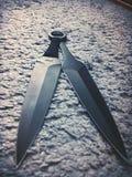 Cuchillo de Kunai foto de archivo