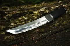 Cuchillo de Tanto en la madera Foto de archivo libre de regalías