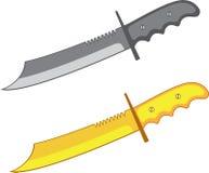 Cuchillo del combate Fotografía de archivo
