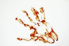 Cuchillo del metal e imitación de la sangre Fotografía de archivo