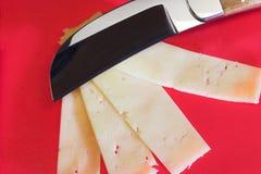 Cuchillo del queso imagen de archivo