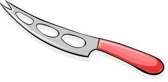 Cuchillo del queso - ejemplo del vector aislado Foto de archivo