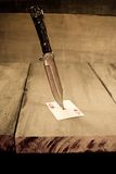 Cuchillo en el ciervo Fotos de archivo