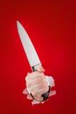 Cuchillo en la mano Imagen de archivo libre de regalías