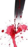 Cuchillo en sangre imagen de archivo libre de regalías