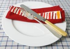 Cuchillo, fork, vector y servilleta imagen de archivo libre de regalías