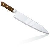 Cuchillo grande del cocinero de la cocina ilustración del vector