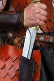 Cuchillo hecho a mano hermoso imagen de archivo libre de regalías