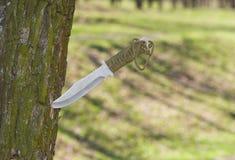 Cuchillo hecho a sí mismo Imagen de archivo