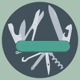 Cuchillo multifuncional Fotografía de archivo