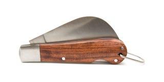 Cuchillo que cultiva un huerto de la poda; plegable Imagenes de archivo