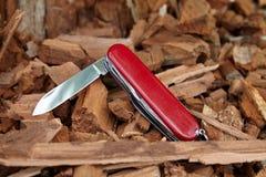 Cuchillo rasguñado Foto de archivo libre de regalías