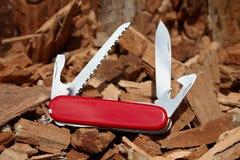 Cuchillo rasguñado Fotos de archivo