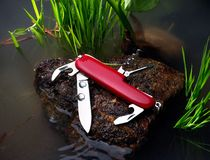Cuchillo rojo Imagen de archivo