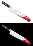 Cuchillo sangriento grande aislado ilustración del vector