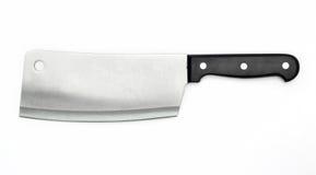 Cuchillo sostenido del carnicero fotos de archivo