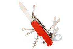 Cuchillo suizo Fotografía de archivo libre de regalías